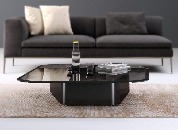 Black Glass Design Coffee Table 3D Model