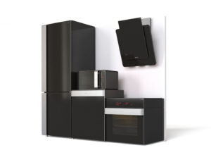 Black Kitchen Furniture Set Free 3D Model