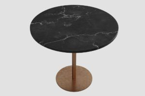 Black Marble Table 3D Model