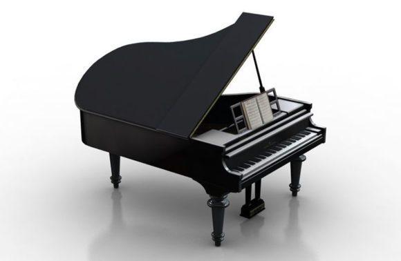 Black Piano 3D Model