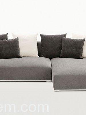 Black Velvet Corner Sofa