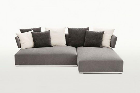 Black Velvet Corner Sofa - C4D Download