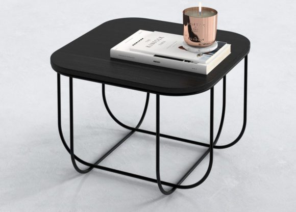 Black Wood and Marble Top Coffee Table 3D Model
