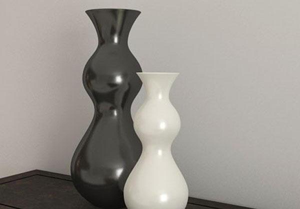 Black and White Vase 3D Model
