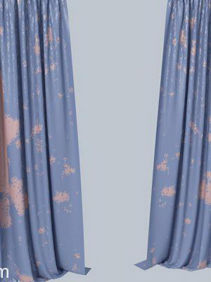 Blue Curtain 3D Model