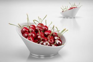 Bowl of Cherries 3D Model
