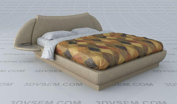 Bright Blanket and Shelves Double Bed