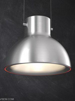 Brushed Alu Ceiling Light 3D Model