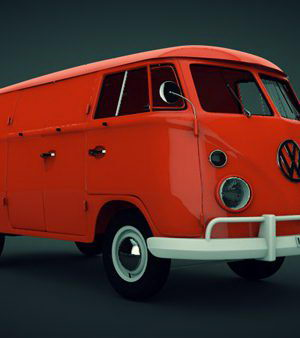 Bus Toy Volkswagen 3D Model