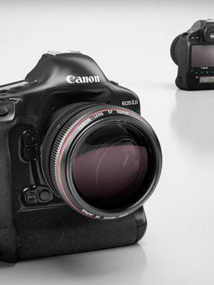 Canon EOS-1D DSLR Camera 3D Model
