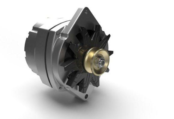 Car Alternator 3D Model