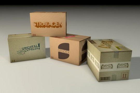 Cardboard boxes 3D Model - Free C4D Models