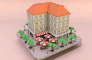 Cartoon Building Free 3D Model