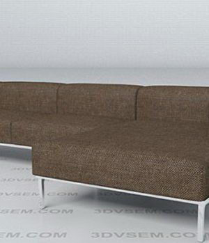 Cassina Corner Sofa 3D Model