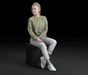 Casual Woman People 3D Model