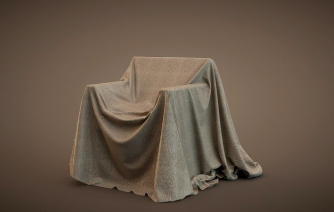 Chair With Cover 3D Model