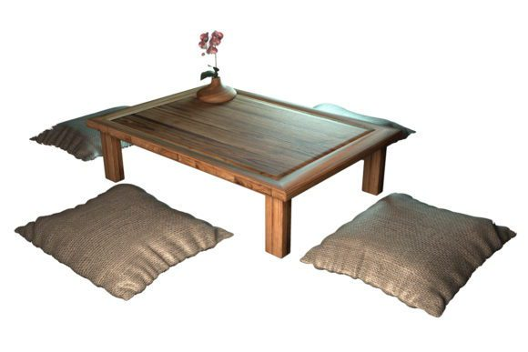 Chinese Low Table 3D Model