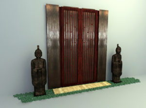 Chinese Wall Panel Free 3D Model