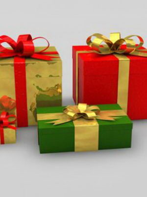 Christmas Giftboxes 3D Model
