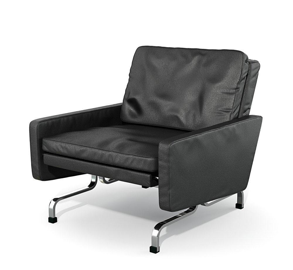 Chrome Leg Armchair 3D Model