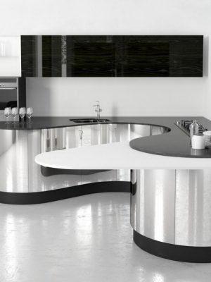 Chrome Steel Kitchen Design 3D Model