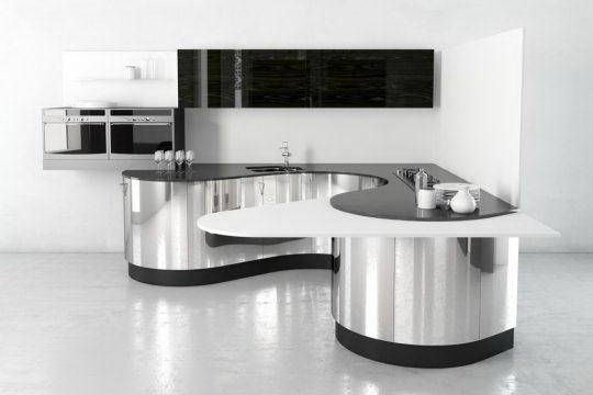 Chrome Steel Kitchen Design 3D Model - Free C4D Models