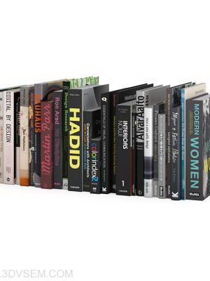 Cinema 4D Books 3D Model