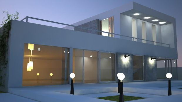 Cinema 4d Modern House Model Free