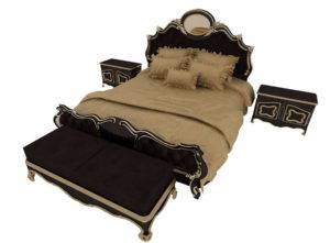 Classic Bed Set Free 3D Model