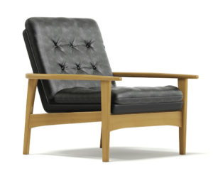 Classic Black Armchair 3D Model