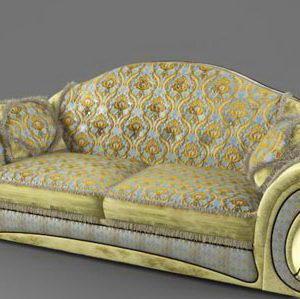 Classic Double Sofa 3D Model