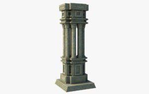 Classic Stone Pillars 3D Model