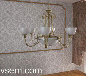 Classic Style Chandelier 3D Model