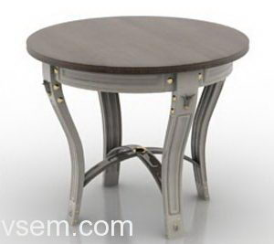Classic Style Coffee Table 3D Model