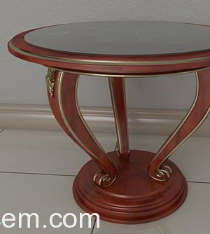 Classic Style Wooden Coffee Table 3D Model