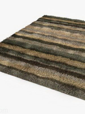 Color Strip Fluffy Carpet 3D Model