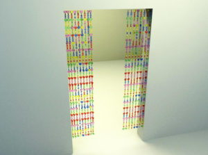 Colorful Bead Curtain Free 3D Model