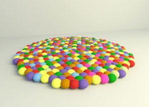 Colourfull Kids Carpet 3D Model