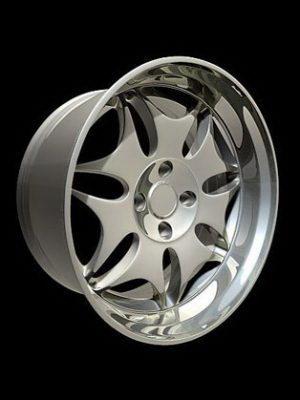 Concept Car Wheel 3D Model