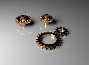 Copper Gears Free 3D Model