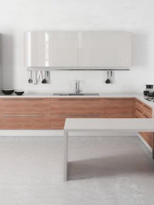 Corner Kitchen Design 3D Model