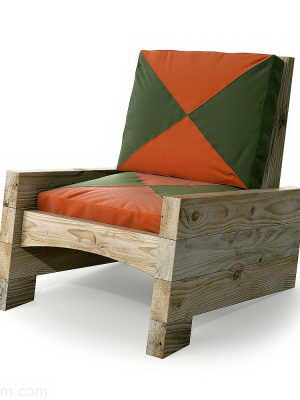 Country Model Armchair 3D Model