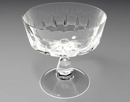 Crystal Glass Bowl 3D Model
