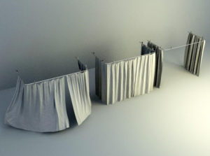 Curtain With Drapes 3D Model