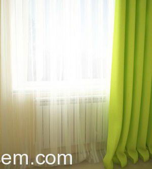 Curtain With Transparent Tulle 3D Model