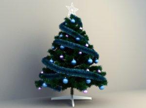 Decorative Christmas Tree 3D Model