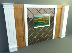 Decorative Glass 3D Wall Panel