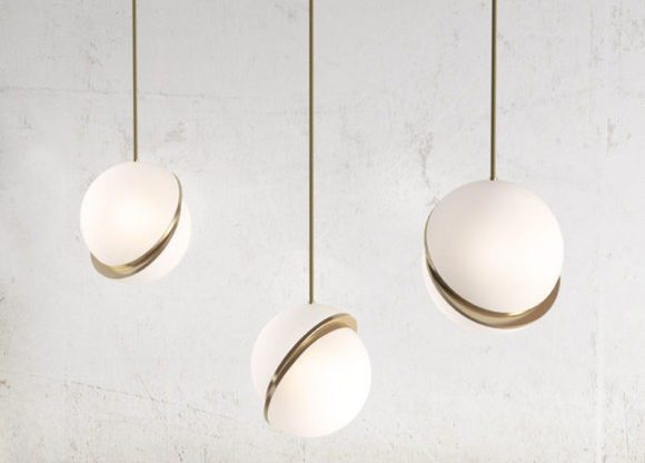 Decorative Gold Pendant Light 3D Model