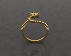 Decorative Gold Ring 3D Model