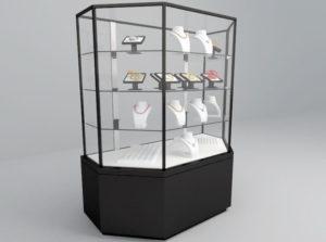 Decorative Jewelry Showcase 3D Model